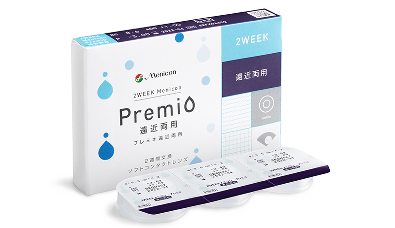 "2WEEKメニコン プレミオ 遠近両用<br>¥3,530 <img src=""http://uedacontact.co.jp/wp/wp-content/uploads/2018/03/dosuu.png""></img>"